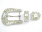 38mm Crystal 3 Part Western Belt Buckle. Product code: WK1